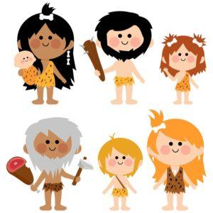 Vector cartoon illustration set of men women babies and children