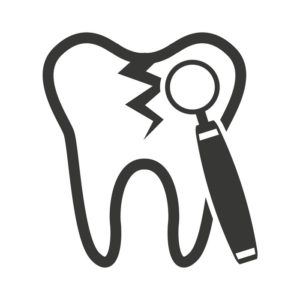 tooth silhouette with dental care icon vector illustration desig